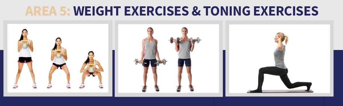 Weight Exercises & Toning Exercises